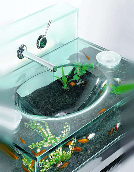 Aquarium Bathroom Sinks - Liven Up Your Hand-Washing Routine with This Clever Design