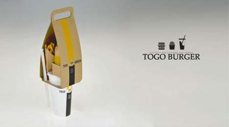 Fast Food Purses - The Eco-Friendly Togo Burger by Seulbi Kim Keeps Items in Order