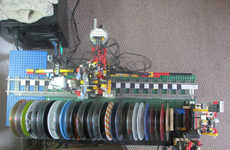 Toy Block CD Changers - This LEGO Jukebox Wil Make Use of Old CDs