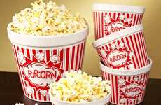 Vintage Movie Popcorn Bowls - These Ceramic Bowls Make You Feel Like You Have Gone Back in Time