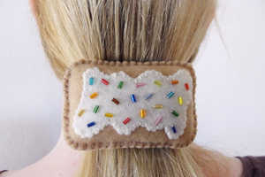 This Pop Tart Hair Accessory is Made from Felt and Colorful Beads