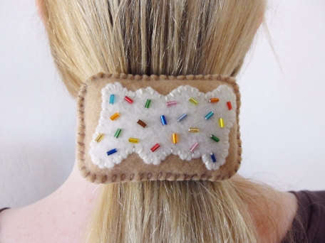 Pop Tart Hair Accessory