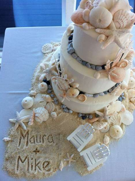 seashore wedding cakes