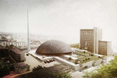 Organically Domed Religious Structures - The Pristina Central Mosque by OODA is Monumental