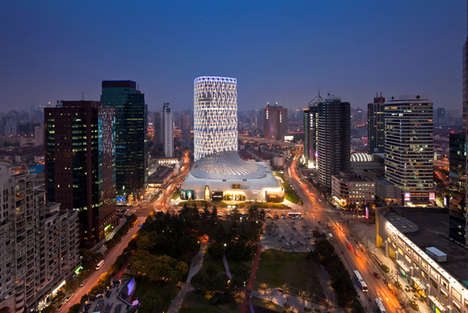 Shoe-Like Fashion Buildings - The Louis Vuitton Shanghai Store is a Sweeping Landmark