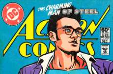 Punky Superhero Portraits - Butcher Billy Transforms Rock Stars into Superheros