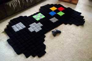 These 8 Bit Video Game-Inspired Rugs Include Link and Mario