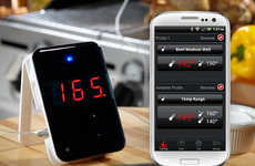 21st Century Grilling Equipment - The Bluetooth BBQ Thermometer Lets Cooks Get the Perfect Searing