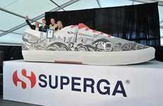 Gigantic Record Breaking Sneakers - Superga Has Broken the Record for the World's Largest Shoe