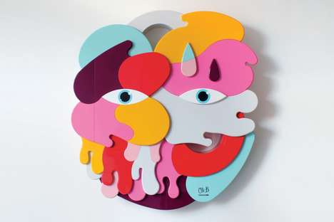 Secret-Keeping Graffiti Sculptures - Olga by Oli-B is a Vibrantly Abstract Three-Dimensional Artwork
