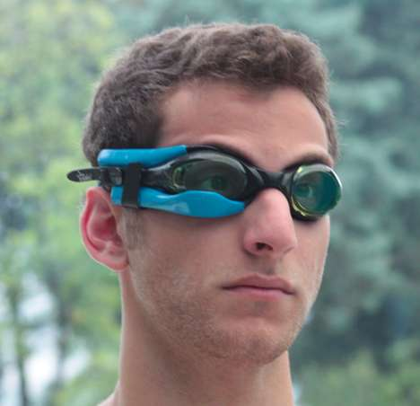 instabeat for swimmer goggles
