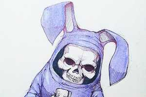 Norio Fujikawa Thrills and Chills with His Bunny Reaper Drawings
