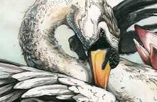 Sublimely Surreal Avian Sketches