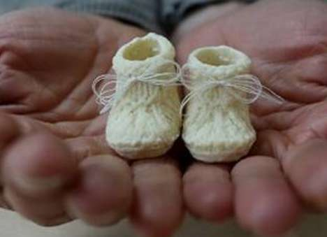 Lactate Infant Sneaker Sculptures - These Decorative Baby Booties are Made Out of Breast Milk