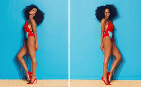 Vivacious Vocalist Editorials - The Solange Knowles Complex June/July 2013 Cover Shoot is Stunning