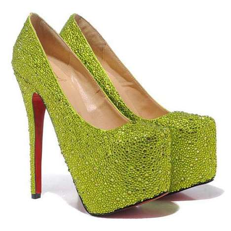 Crystallized Sod Shoes - These Daffodile Christian Louboutin Pumps Look Exactly Like Grass