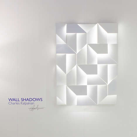 Angular Shadowbox Illuminators - The Wall Shadows Lighting by Charles Kalpakian Plays With Dimension