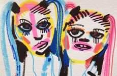 Quirky Blogger Caricatures - Jon Burgerman Sketches the Gorgeously Glam Girls on Tumblr