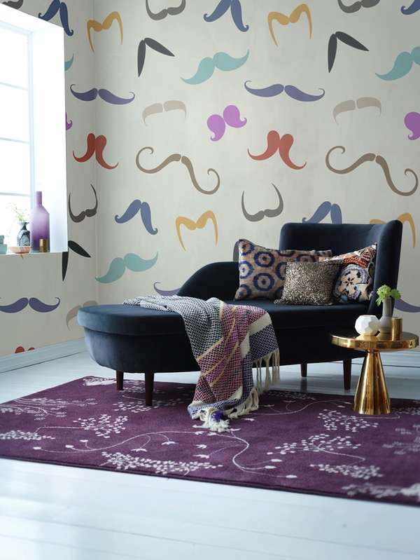 Moustchae Wall Murals from PIXERS
