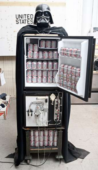 Dark Side Drink Dispensers - Tom Sachs Wants You to Chill with His Evil Vader Fridge Design