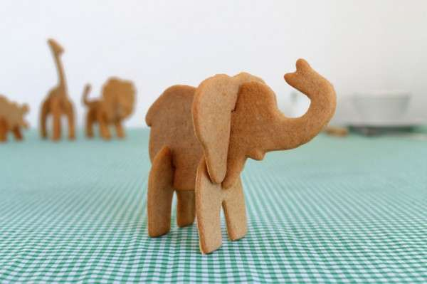 3D Animal Biscuit Molds