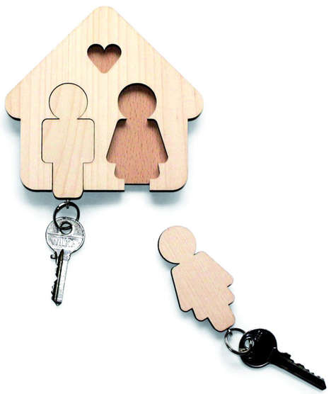 Cute Couples Key Hangers - The Home Sweet Home Key Board is Designed for Sweethearts