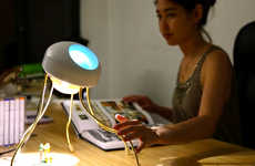 Expressive Robot-Like Lighting - The Clyde Lamp by Fabule Fabrications is Full of Personality
