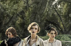 20s-Inspired Sorority Editorials - The Ladies Magazine 'Gatsby Girls' Photoshoot is Glamorous