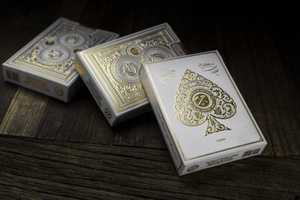 These White Artisan Playing Cards Add Class to Any Poker Game