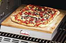 The PizzaQue Pizza Stone Grill Cooks Pizza the Old Fashioned Way