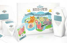 Biodegradable Pet Caskets - The 'Rest In Pets' Funeral Caskets Celebrates Passing Pets