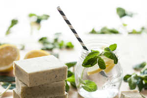 The Homemade Lemon Herb Soap by Sincerely Kinsey is Fresh