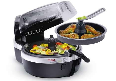 Dual-Tasking Healthy Fryers - The New T-Fal Actifry Can Cook Meat and Veggies at the Same Time