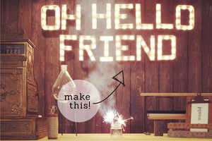 These 'Oh, Hello Friend' DIY Marquee Lights Will Prepare You for Fame
