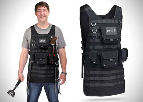Swat Style BBQ Aprons - The Tactical BBQ Apron Would Make a Great Father