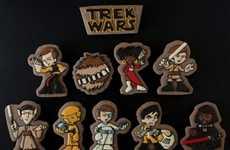Sci-Fi Mashup Cookies - Sarah Trefney's 'Star Trek/Wars' Cookies Pay Tribute to Both Franchises