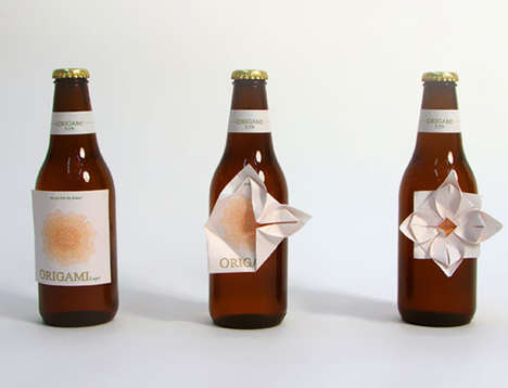 origami beer labels