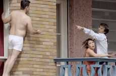 Highrise Infidelity Stunt Ads - The Discovery Channel's Campaign Has a Man Escaping an Angry H
