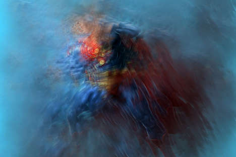 Fragmented Superhero Portraits - Samuel Bernard's Series Distorts Comic Book Heroes