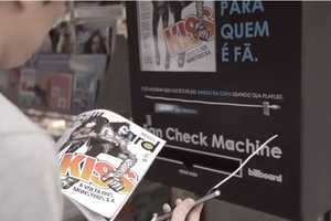 The 'Fan Check Machine' Gives Billboard Magazines to True Fans