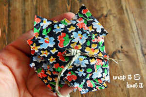 These Super Simple Hair Clips are Made from Colorful Floral Material