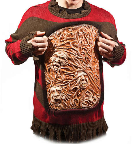 Gruesome Nightmare Sweaters - The Freddy Krueger Sweater is Sure to Scare Anyone (TrendHunter.com)