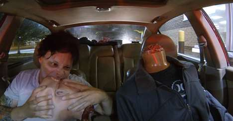 Drive-Through Zombie Pranks - The Headless Zombie Prank is Sure to Amuse Many People