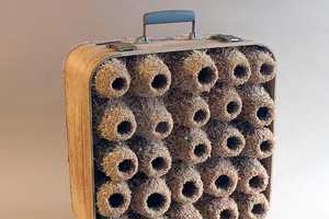 Robert Lach Converts Swanky Suitcases into Nests