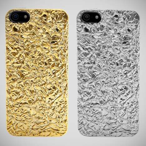 foil covered iphone 5 case by marc by marc jacobs