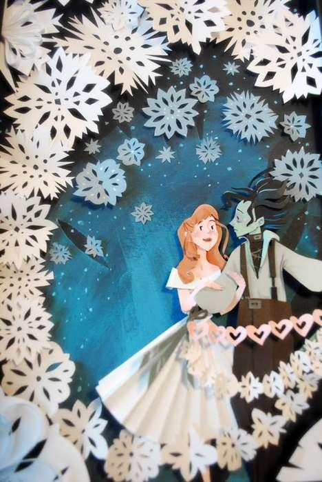 Pop Culture Paper Art - These Pop Culture Paper Portraits Include Disney Classics (TrendHunter.com)