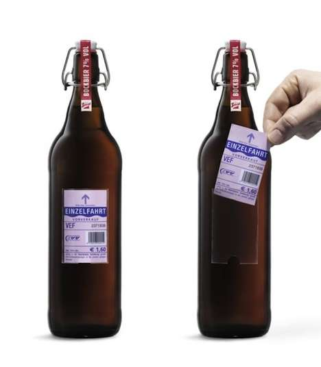 Ticket-Toting Beer Labels - This Company Replaced Beer Labels with Tickets for Transportation