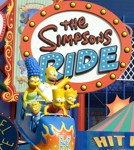 simpsons theme park