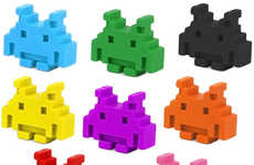 8-Bit Coloring Creatures - The Space Invaders Crayons are Perfect for Fans of the Retro Arcade Game
