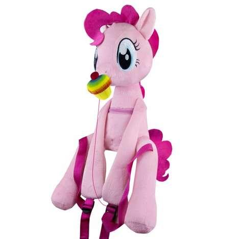 Huggable Pony Knapsacks - The 'My Little Pony Hug Me Backpacks' are Adorable Plush Toys